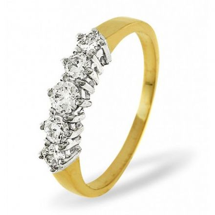 18K Gold 0.50ct H/si Diamond Ring, DR05-50HSY